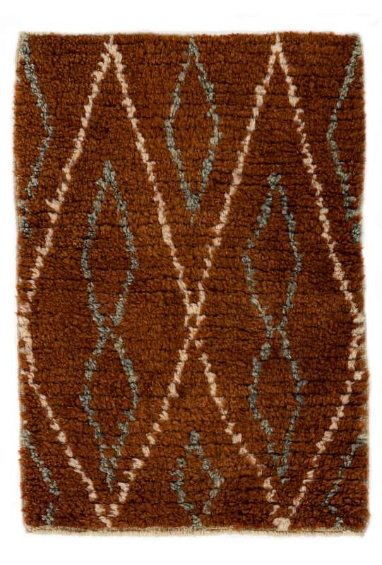 Brown, Beige & Gray Natural wool colors, MOROCCAN Berber Beni Ourain Design Rug, HANDMADE, 100% Wool
