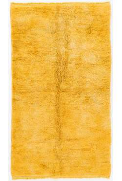 Dark Yellow Turklish Tulu Rug, HANDMADE, 100% Wool