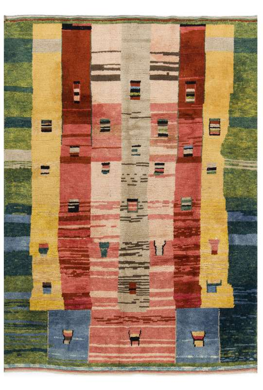 Multicolor Turkish Tulu Rug, Pastel Faded Colors, Tulu Rug HANDMADE, 100% Wool