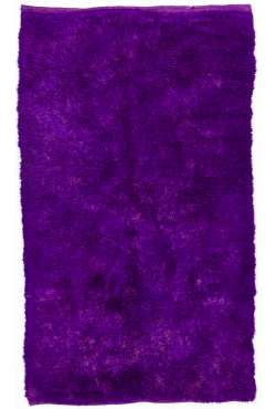 Purple colored Turkish Tulu Shag Pile Rug, HANDMADE, 100% Wool