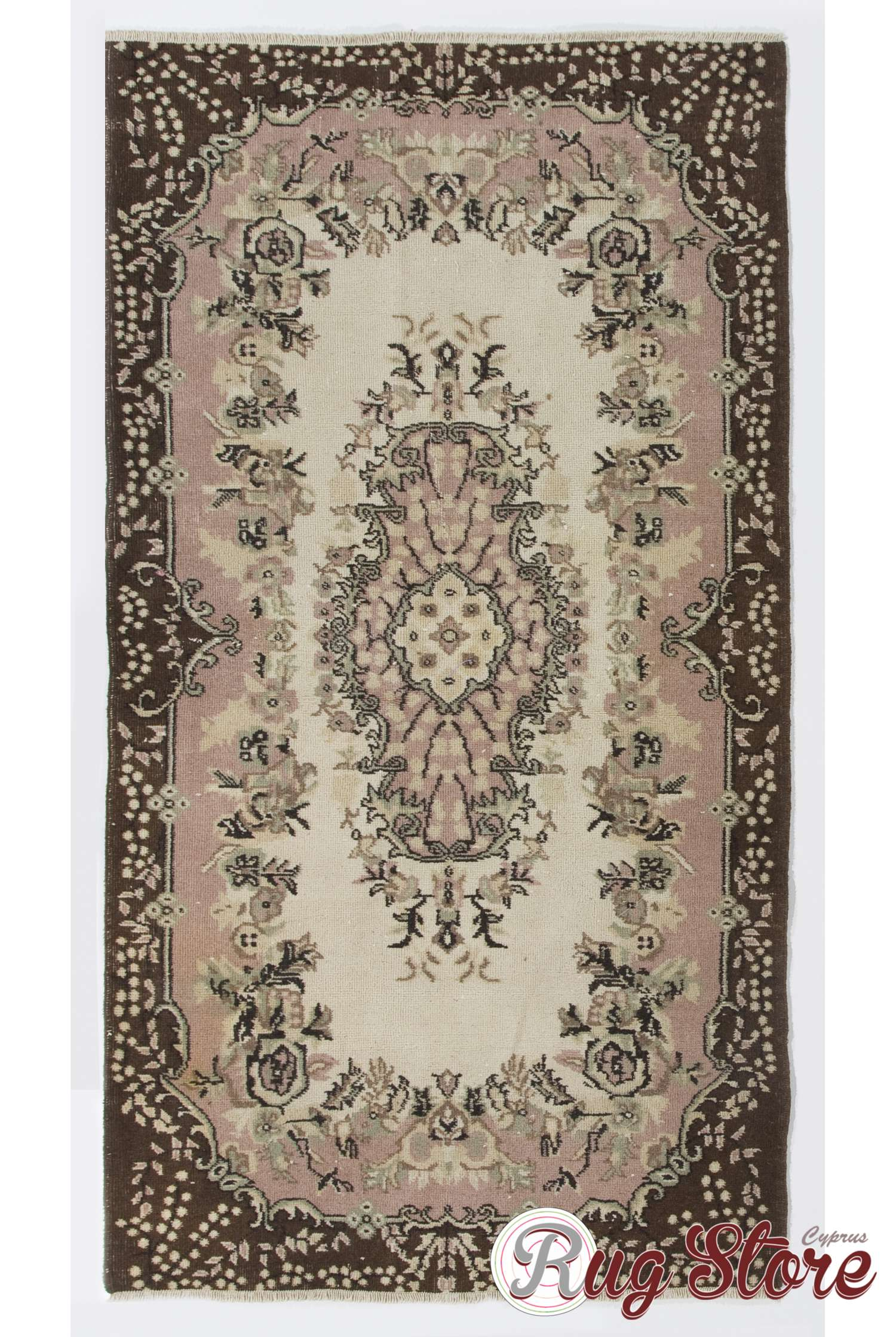 4 39 x 7 39 4 117 x 215 cm turkish antique washed rug beige pink brown. Black Bedroom Furniture Sets. Home Design Ideas