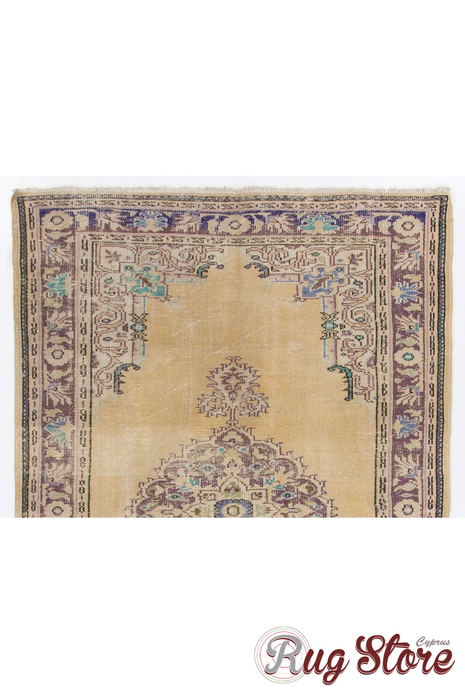 beige antique washed turkish rug with purple and lilac patterns. Black Bedroom Furniture Sets. Home Design Ideas