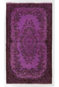 4' x 7' (121x213 cm) Purple OVERDYED Vintage Turkish Rug