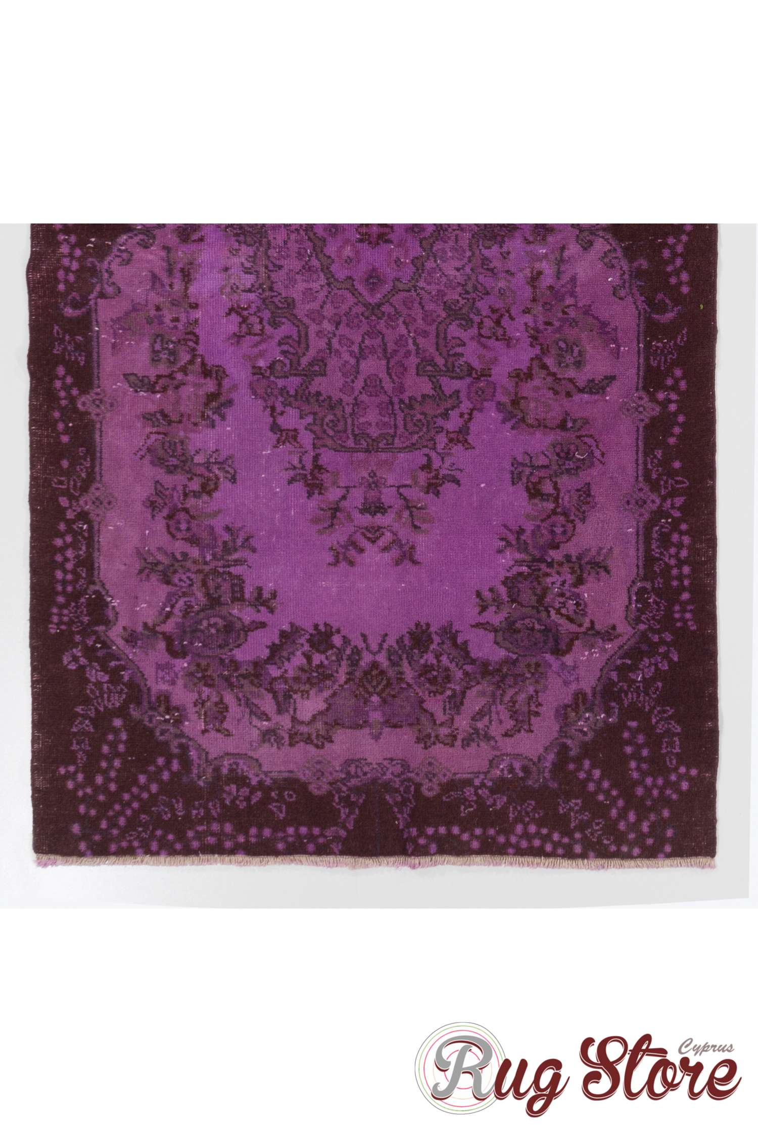 4 X 7 121x213 Cm Purple Overdyed Vintage Turkish Rug