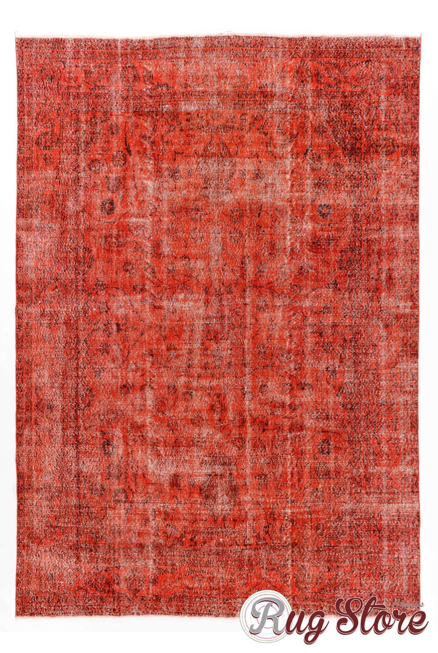 7 8 X 11 240 340 Cm Red Color Vintage Overdyed Handmade Turkish Rug