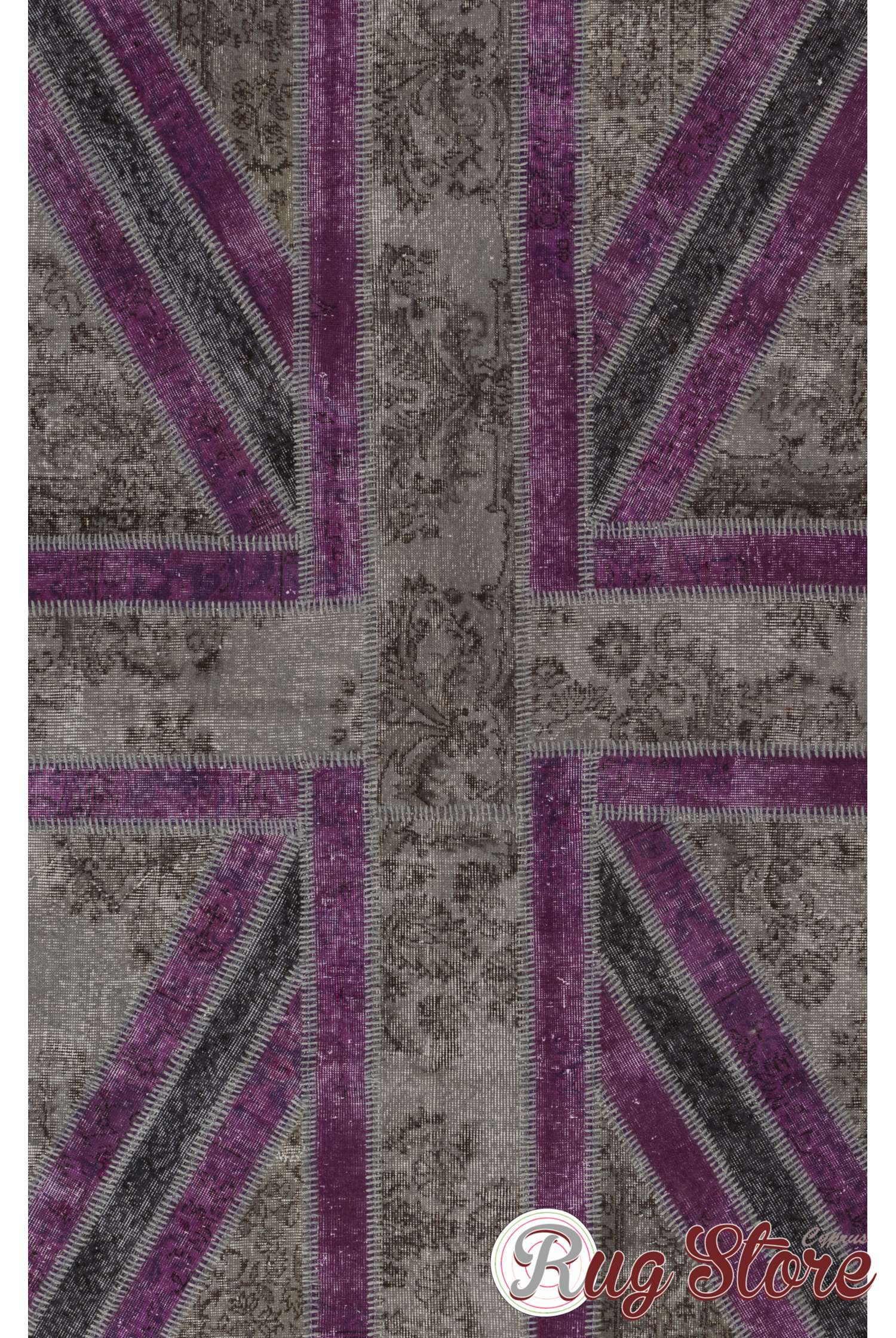 152x245 Cm Gray And Purple Color Union Jack British Flag