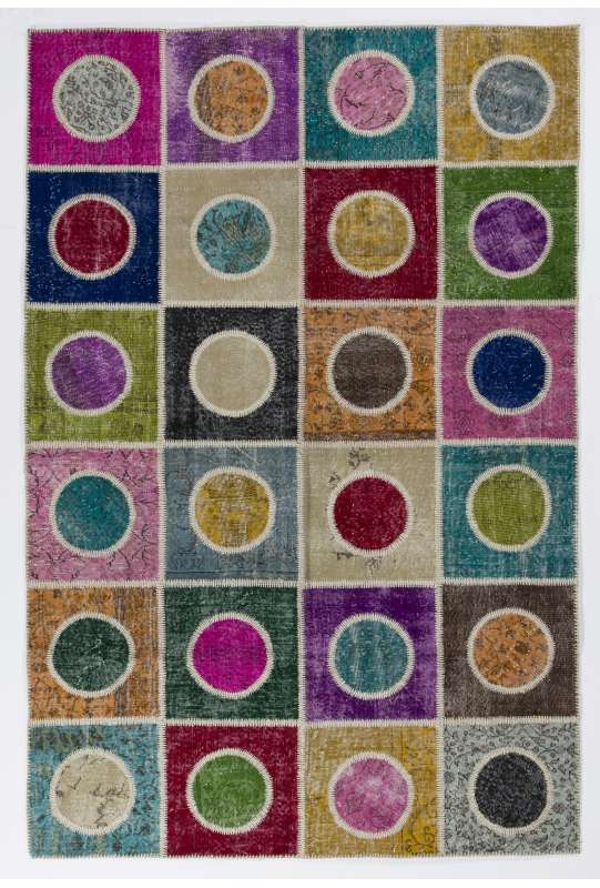 200x300 cm ( 6.6 x 9.10 Ft. ) MultiColor Patchwork Rug