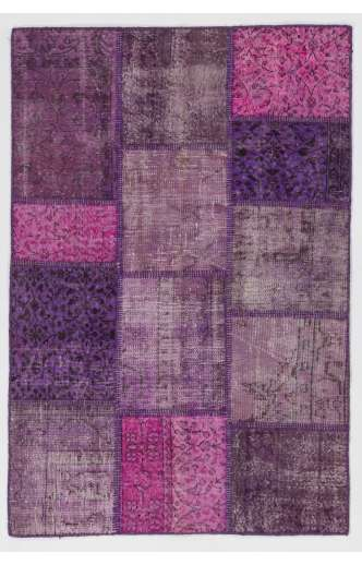 4' x 6' (122x183 cm) Purple Lavender Lilac Orchid Color Patchwork Rug