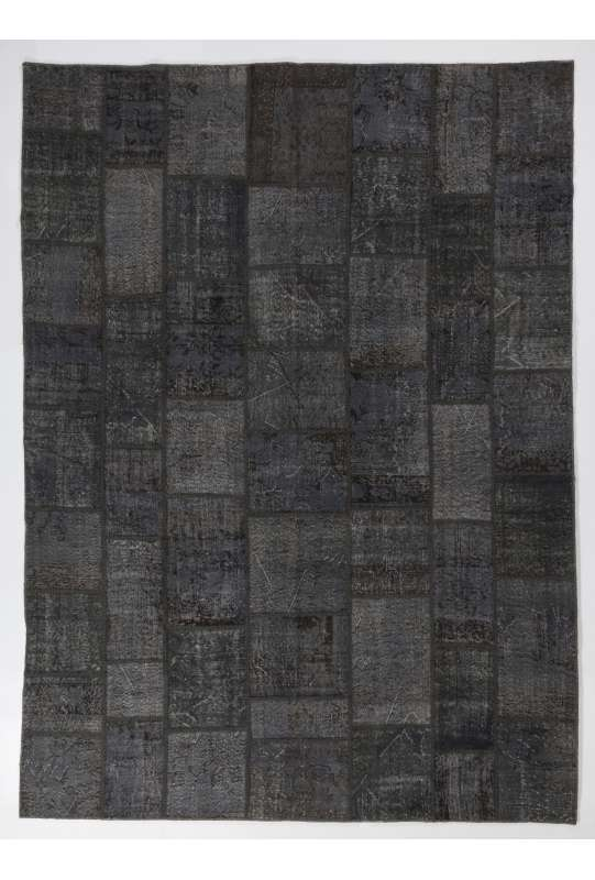 9' x 12' (275x365 cm) GRAY Color PATCHWORK Rug
