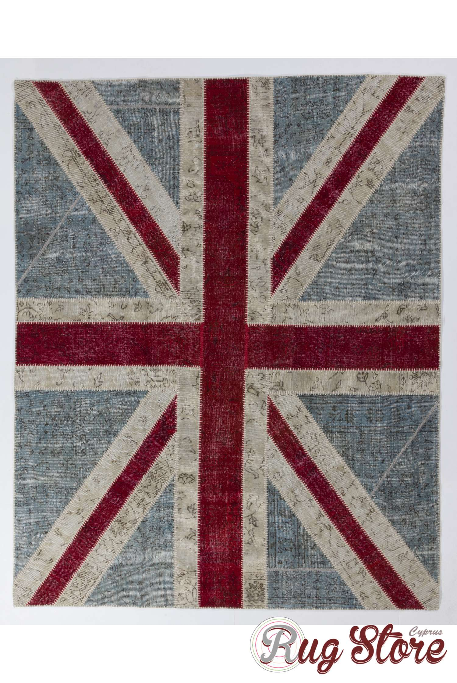 245x305 Cm British Flag Union Jack Design Patchwork Rug