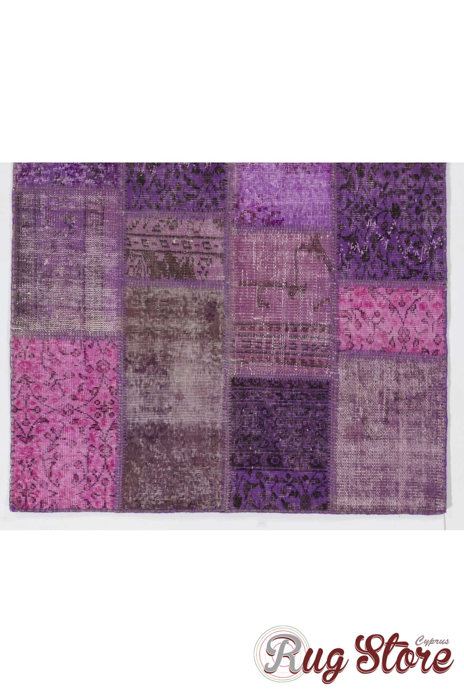 4 X 6 Purple Lavender And Orchid Colored Patchwork Rug
