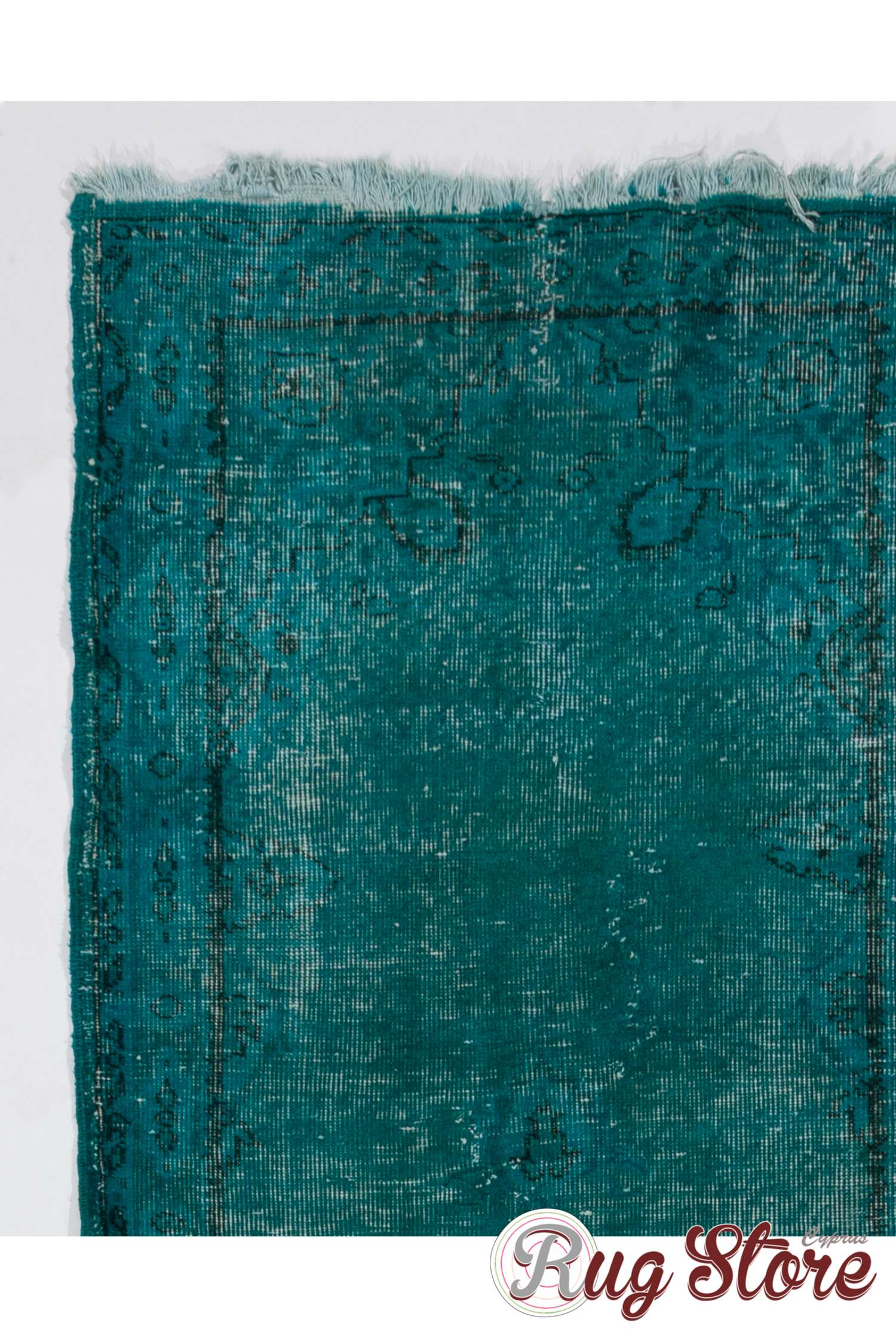 Turquoise Runner Rug Turquoise Blue Color Vintage