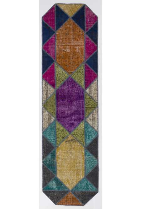 3' x 11' Multicolor Patchwork Runner Rug