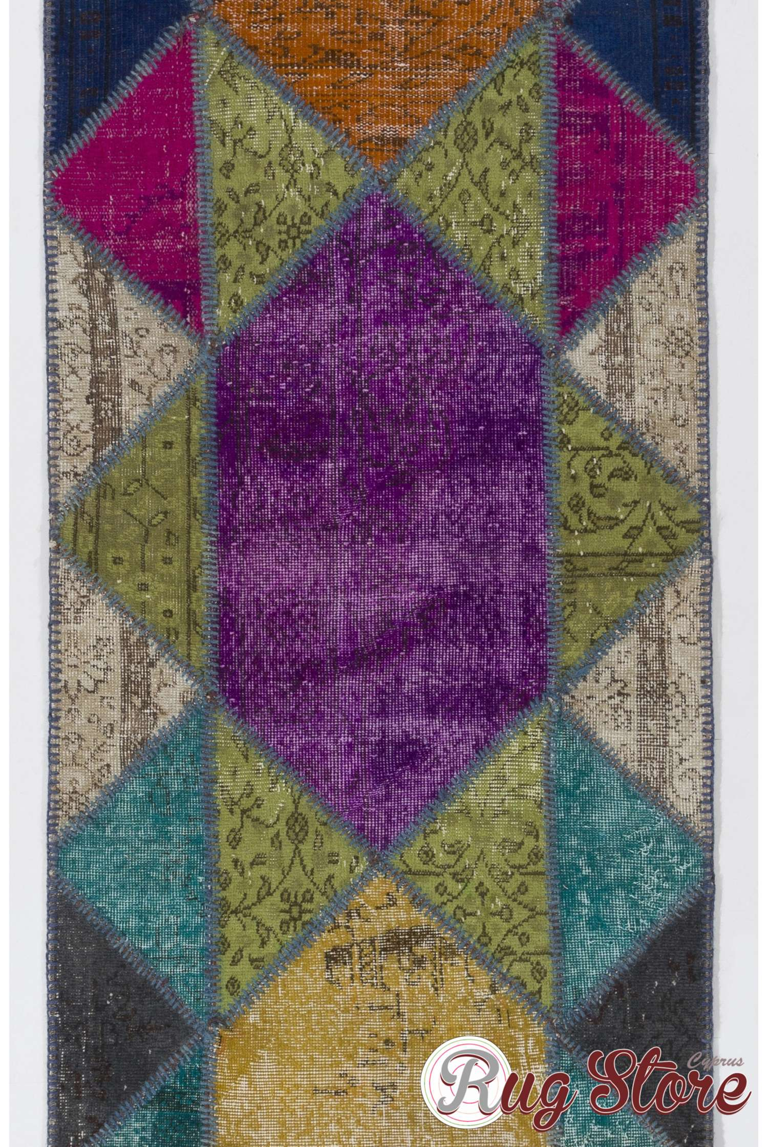 Multicolor Patchwork Runner Rug