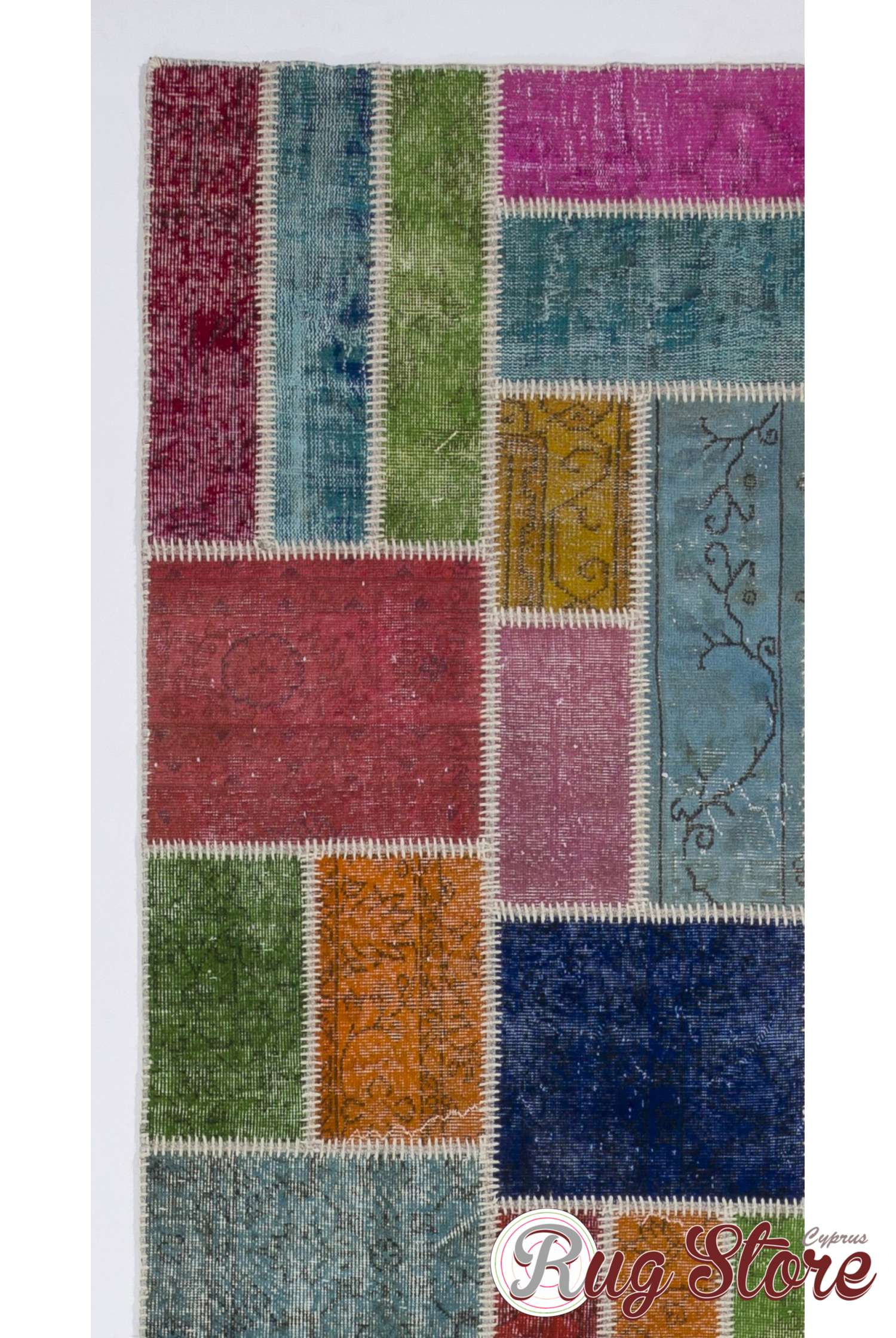 Multi Color Long Patchwork Runner Rug