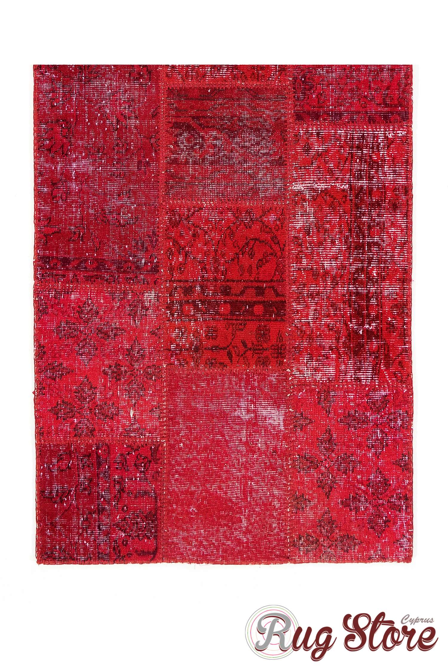 3 X 10 Red Patchwork Runner Rug