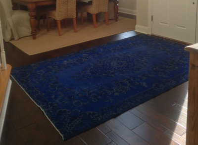 overdyed rugs in room